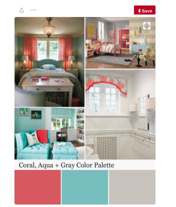 Coral Colour Palette