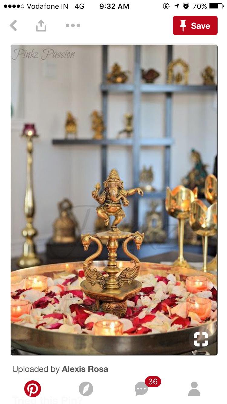 Flower Puja Thali