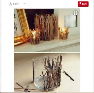 Twig candle