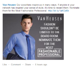 Social Media Camapign Review: Van Huesen